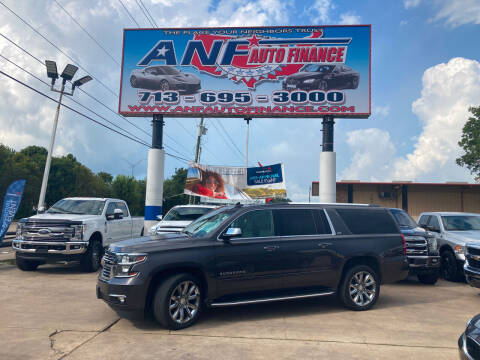 2016 Chevrolet Suburban for sale at ANF AUTO FINANCE in Houston TX