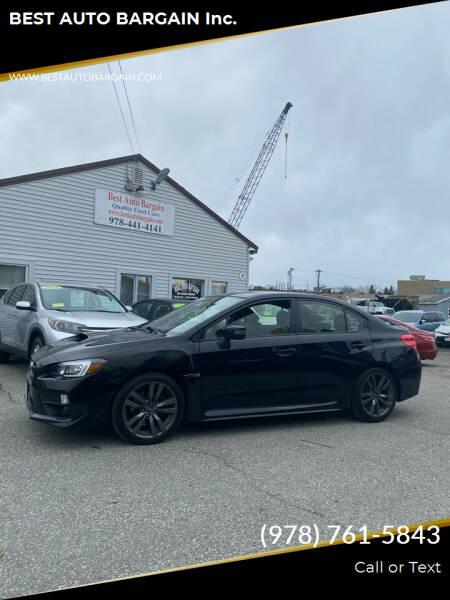 2016 Subaru WRX for sale at BEST AUTO BARGAIN inc. in Lowell MA