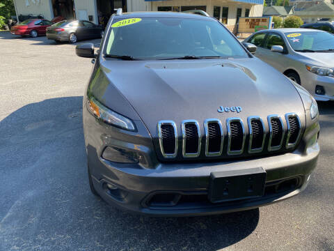 2018 Jeep Cherokee for sale at WHARTON'S AUTO SVC & USED CARS in Wheeling WV