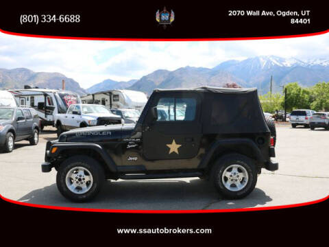 2000 Jeep Wrangler for sale at S S Auto Brokers in Ogden UT