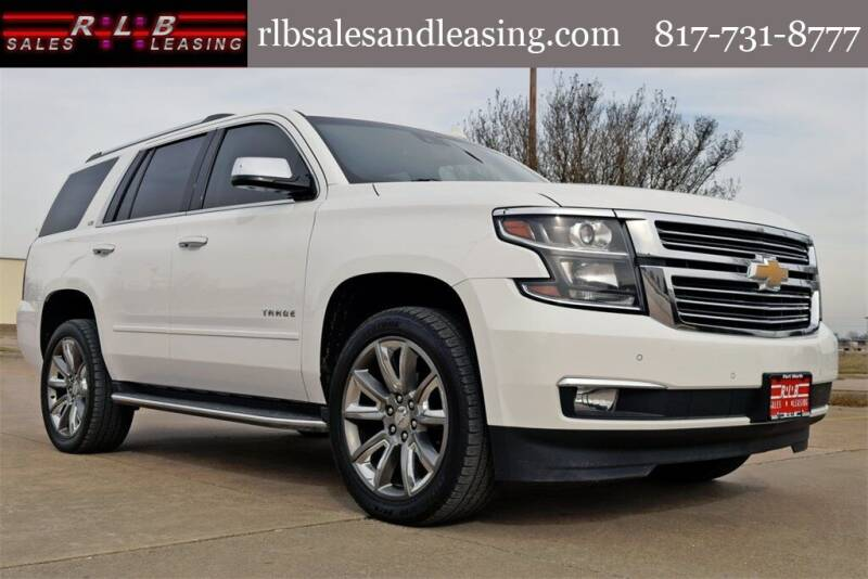 2016 Chevrolet Tahoe for sale at RLB Sales and Leasing in Fort Worth TX