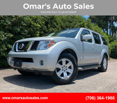 2007 Nissan Pathfinder for sale at Omar's Auto Sales in Martinez GA