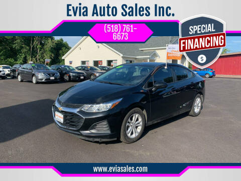 2019 Chevrolet Cruze for sale at Evia Auto Sales Inc. in Glens Falls NY