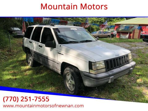 1995 Jeep Grand Cherokee for sale at Mountain Motors in Newnan GA