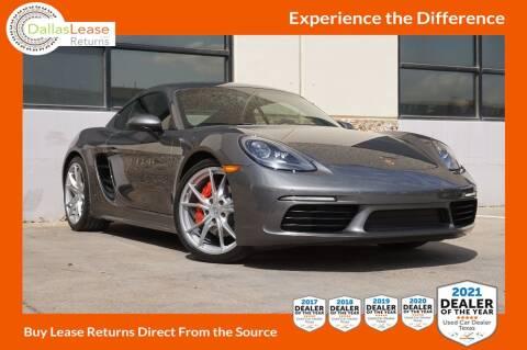 2019 Porsche 718 Cayman for sale at Dallas Auto Finance in Dallas TX