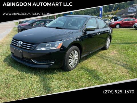 2014 Volkswagen Passat for sale at ABINGDON AUTOMART LLC in Abingdon VA