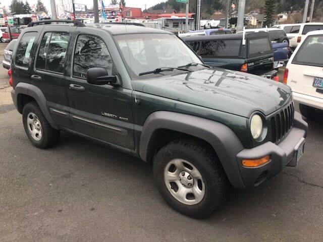 2002 Jeep Liberty for sale at Chuck Wise Motors in Portland OR