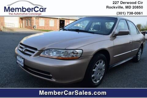 2002 Honda Accord for sale at MemberCar in Rockville MD