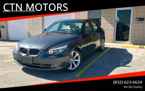 2010 BMW 5 Series for sale at CTN MOTORS in Houston TX