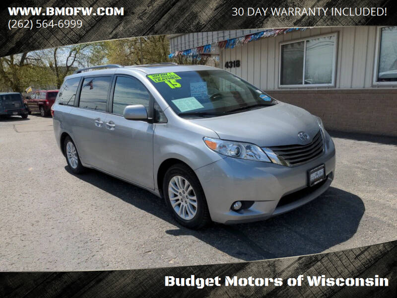 2015 Toyota Sienna for sale at Budget Motors of Wisconsin in Racine WI