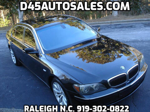 2008 BMW 7 Series for sale at D45 Auto Brokers in Raleigh NC