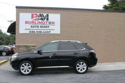 2012 Lexus RX 350 for sale at Burlington Auto Mart in Burlington NC