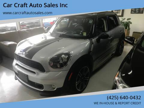 2014 MINI Countryman for sale at Car Craft Auto Sales Inc in Lynnwood WA