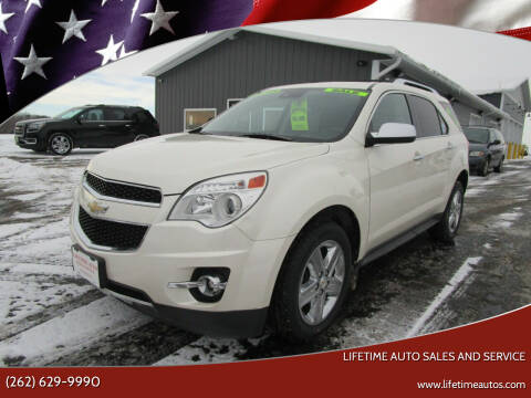 2014 Chevrolet Equinox for sale at Lifetime Auto Sales and Service in West Bend WI
