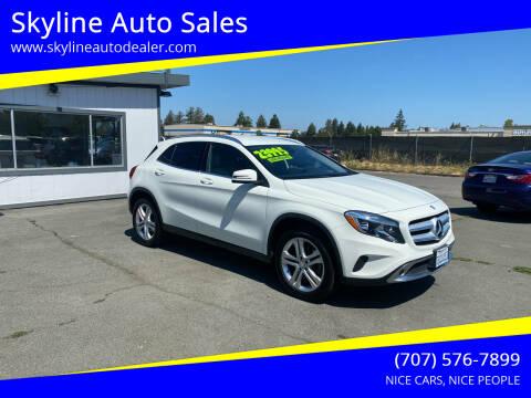 2016 Mercedes-Benz GLA for sale at Skyline Auto Sales in Santa Rosa CA