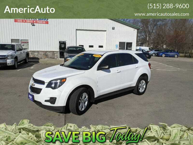 2014 Chevrolet Equinox for sale at AmericAuto in Des Moines IA