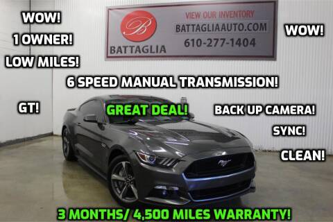 2016 Ford Mustang for sale at Battaglia Auto Sales in Plymouth Meeting PA