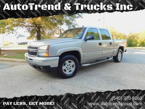 2006 Chevrolet Silverado 1500 for sale at AutoTrend & Trucks Inc in Fredericksburg VA