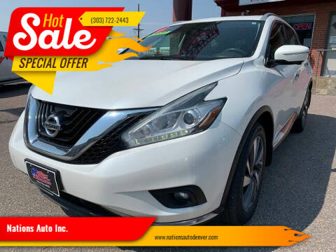 2015 Nissan Murano for sale at Nations Auto Inc. in Denver CO