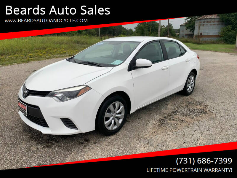 2015 Toyota Corolla for sale at Beards Auto Sales in Milan TN