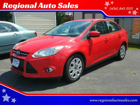2012 Ford Focus for sale at Regional Auto Sales in Madison Heights VA
