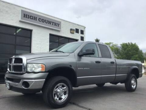 2005 Dodge Ram Pickup 2500 for sale at High Country Motor Co in Lindon UT