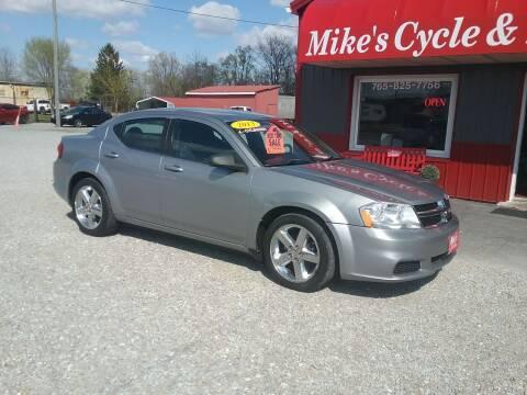 2013 Dodge Avenger for sale at MIKE'S CYCLE & AUTO in Connersville IN