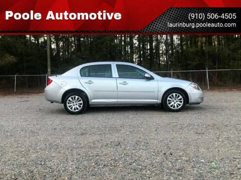 2009 Chevrolet Cobalt for sale at Poole Automotive in Laurinburg NC