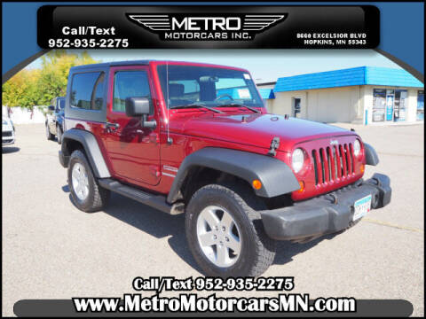 2010 Jeep Wrangler for sale at Metro Motorcars Inc in Hopkins MN