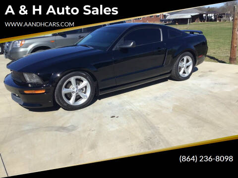 2009 Ford Mustang for sale at A & H Auto Sales in Greenville SC