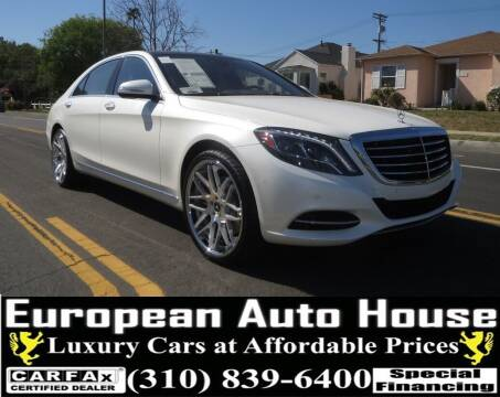 2016 Mercedes-Benz S-Class for sale at European Auto House in Los Angeles CA