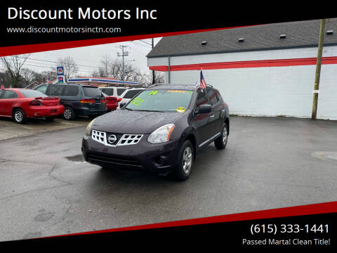 2014 Nissan Rogue Select for sale at Discount Motors Inc in Nashville TN