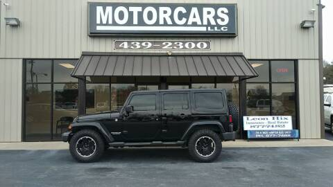 2012 Jeep Wrangler Unlimited for sale at MotorCars LLC in Wellford SC