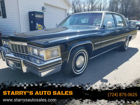 1977 Cadillac DeVille for sale at STARRY'S AUTO SALES in New Alexandria PA