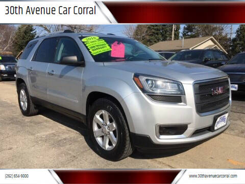 2016 GMC Acadia for sale at 30th Avenue Car Corral in Kenosha WI