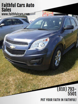 2013 Chevrolet Equinox for sale at Faithful Cars Auto Sales in North Branch MI