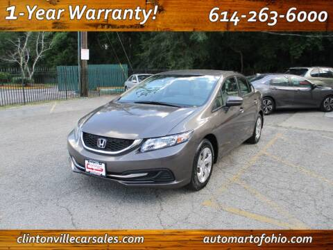 2013 Honda Civic for sale at Clintonville Car Sales - AutoMart of Ohio in Columbus OH
