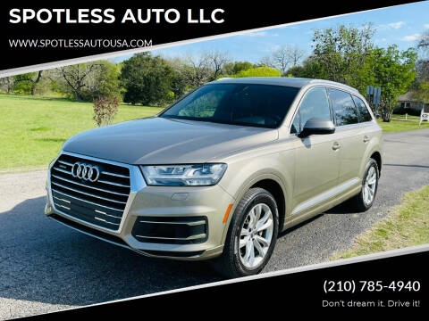 2017 Audi Q7 for sale at SPOTLESS AUTO LLC in San Antonio TX