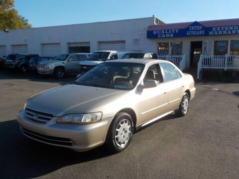 2002 Honda Accord for sale at United Auto Land in Woodbury NJ