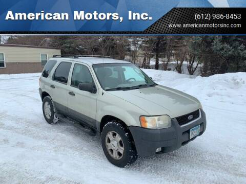 2003 Ford Escape for sale at American Motors, Inc. in Farmington MN