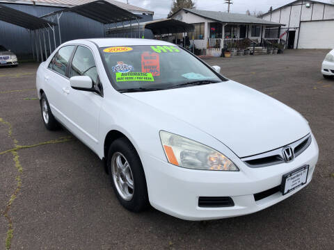 2006 Honda Accord for sale at Freeborn Motors in Lafayette, OR