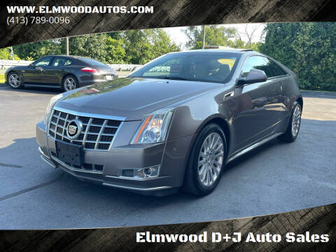 2012 Cadillac CTS for sale at Elmwood D+J Auto Sales in Agawam MA