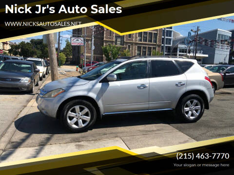 2007 Nissan Murano for sale at Nick Jr's Auto Sales in Philadelphia PA