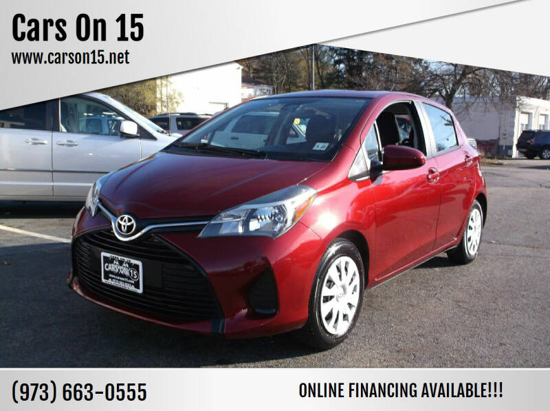 2017 Toyota Yaris for sale at Cars On 15 in Lake Hopatcong NJ