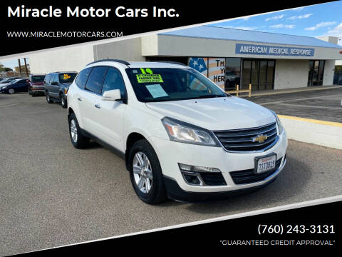 2014 Chevrolet Traverse for sale at Miracle Motor Cars Inc. in Victorville CA