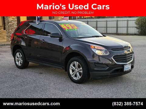 2016 Chevrolet Equinox for sale at Mario's Used Cars - Pasadena Location in Pasadena TX