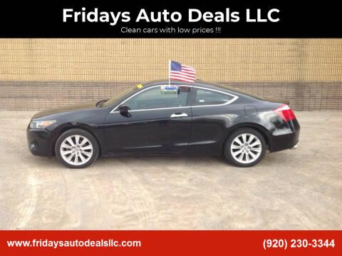 2009 Honda Accord for sale at Fridays Auto Deals LLC in Oshkosh WI
