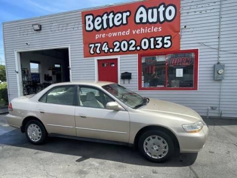 2002 Honda Accord for sale at Better Auto in Dartmouth MA