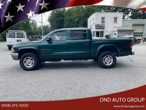 2002 Dodge Dakota for sale at DND AUTO GROUP in Belvidere NJ