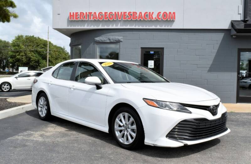 2018 Toyota Camry for sale at Heritage Automotive Sales in Columbus in Columbus IN